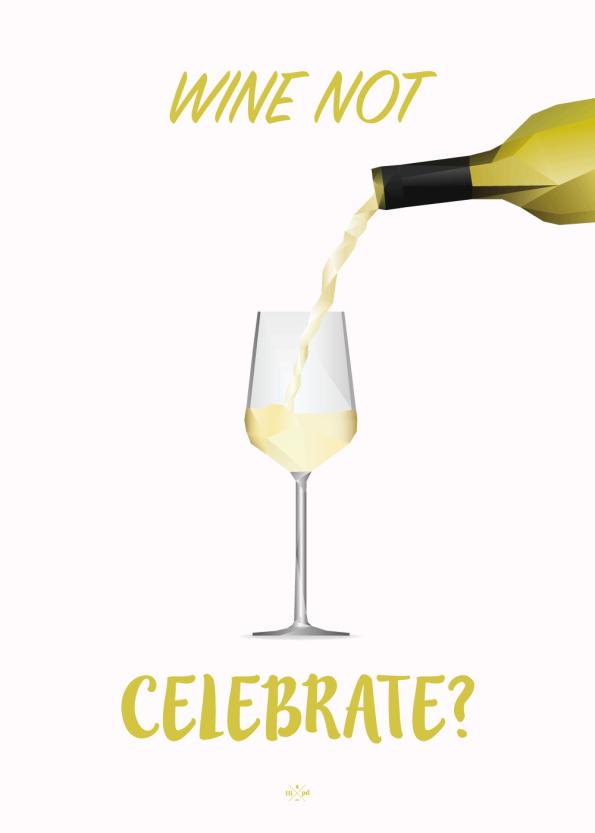 far jokes - wine nor celebrate - hvidvin plakat