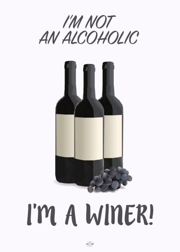 wine plakat med flasker af rødvin og vindruer