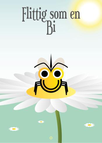Ordsprog plakat: Flittig som en bi