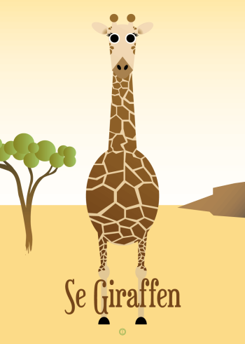 Ordsprog plakat: Se Giraffen (talemåde)