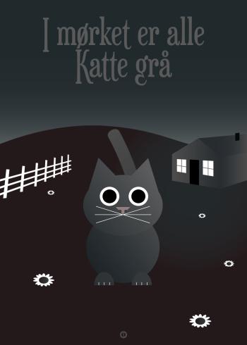 Ordsprog plakat: I mørket er alle Katte grå (talemåde)