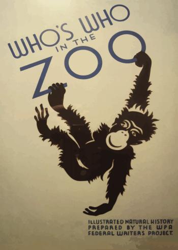 zoo plakater med en abe