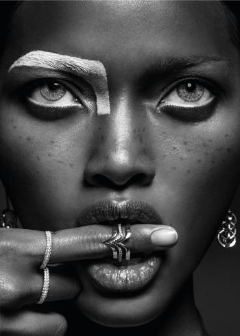 fotokunst af super smukt billede af en afrikansk kvinde