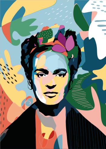 frida kahlo på grafisk plakat