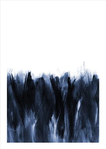 kunstplakater med blå brush strokes
