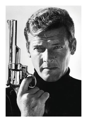 fashion plakater af gammel agent 007 skuespiller