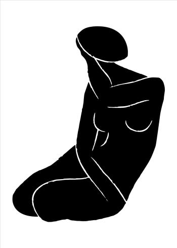 kunstplakater med kvindekrop efterligning af martisse