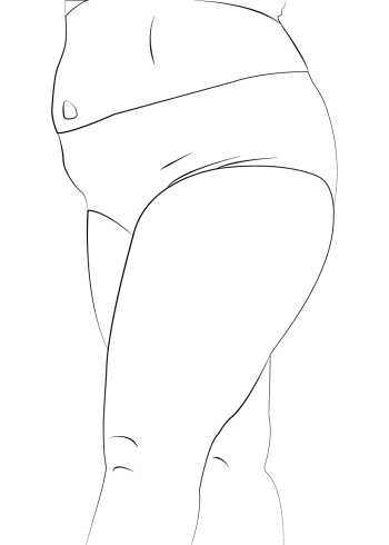 body positivity plakat med flot line art af underkroppen
