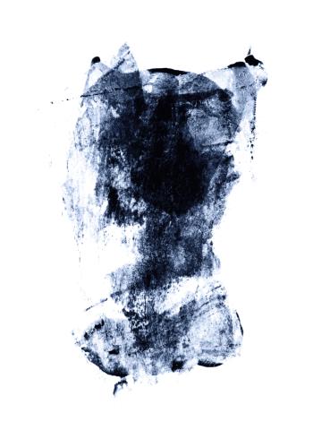 kunstplakater med abstrakte malerier i bløde blå farver