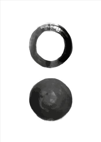 kunstplakater i minimalistisk design af cirkler