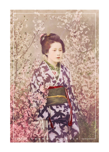 japanske fotokunst plakater med asiatisk kvinde