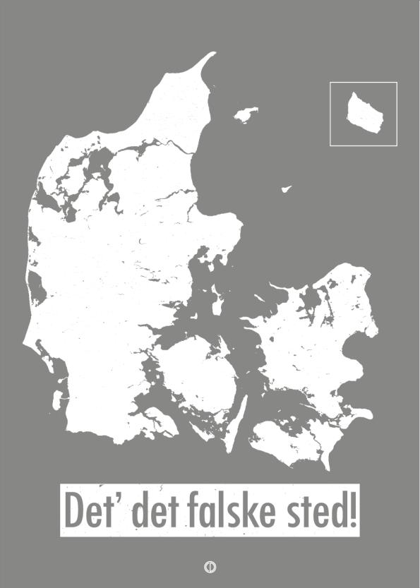'Morten og peter' plakat: Det er det falske sted!