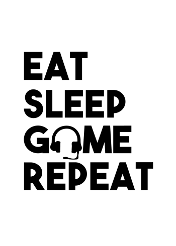 gamerplakater - eat sleet game repeat