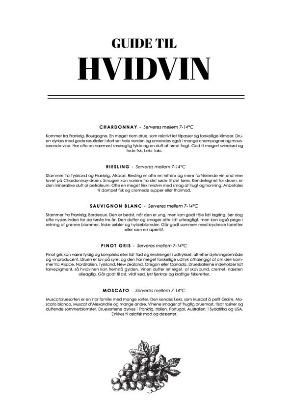 hvidvin wine guide plakat