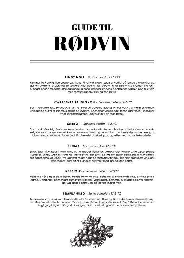 rødvin wine guide plakat