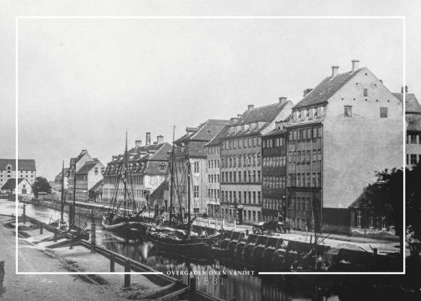 Christianshavn Overgaden-Oven-Vandet-gammel Koebenhavn plakat