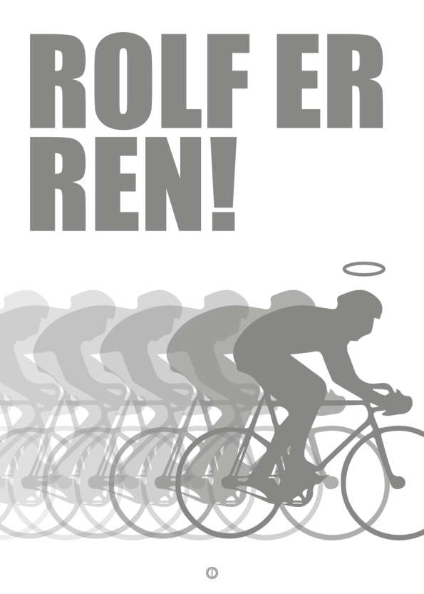 Monte Carlo på dr p3 citat plakat: Rolf er ren (grå)