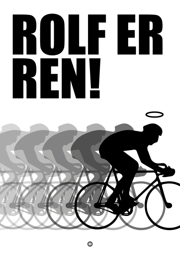 'Monte Carlo' plakat: Rolf er ren (sort)