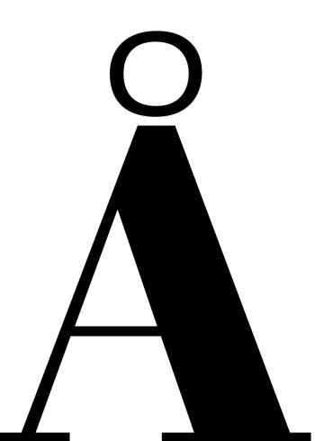 bogstavet å på plakat
