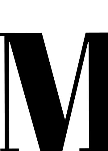 plakater med bogstaver m