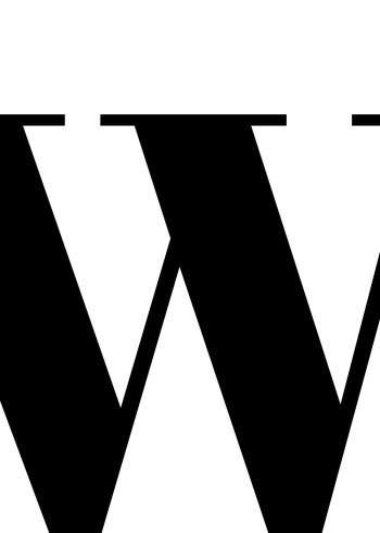 abc plakater med bogstavet w