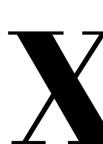 bogstav plakat med bogstavet x