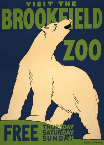 zoo plakater med isbjørn