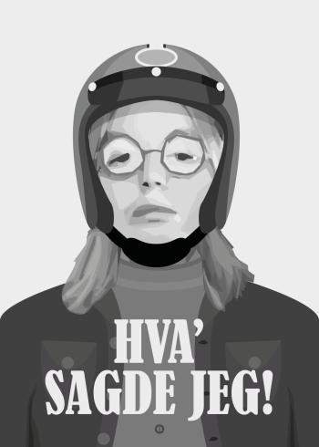 Olsen banden Børge citat plakat - Hvad sagde jeg