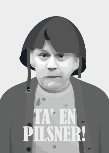 Olsen banden preben kaas citat plakat - tag en pilsner