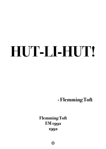 'EM92' plakat: hut-li-hut simpel