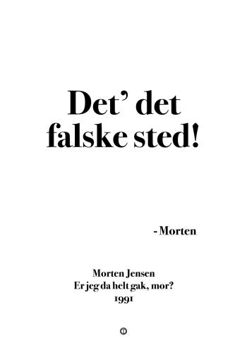 'Morten og Peter' plakat: Det' det falske sted!