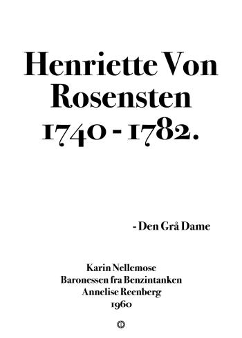 baronessen fra benzintanken citat plakat henriette von rosensten 1740 - 1782