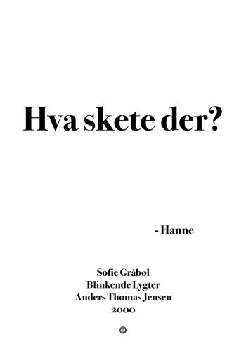 'Blinkende Lygter' plakat: Hva skete der?