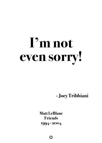 Joey tribbiani poster Friends