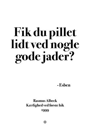 'Kærlighed ved første blik' plakat: Fik du pillet lidt ved nogle gode jader?