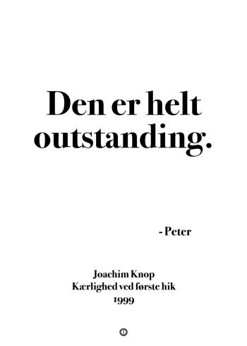 Anja og viktor citat plakat - den er helt outstanding