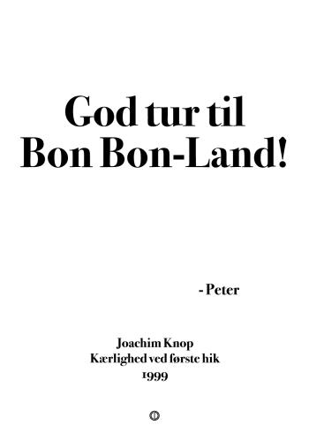 Anja og viktor citat plakat - god tur til bonbonland