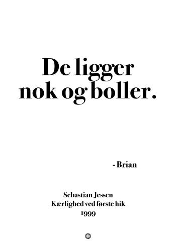 Anja og viktor citat plakat - de ligger nok og boller