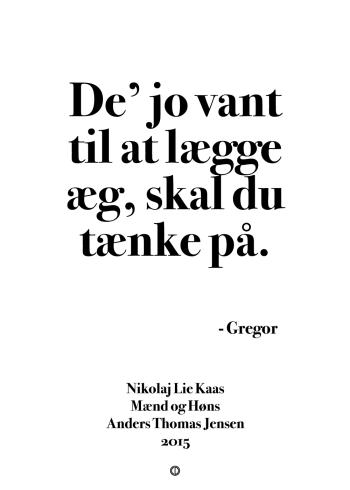'Mænd og Høns' plakat: De' jo vant til at lægge æg, skal du tænke på