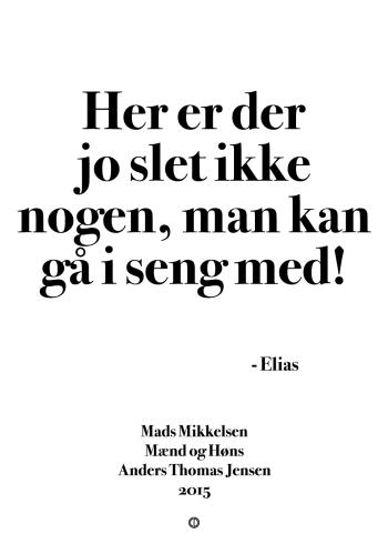 'Mænd og Høns' plakat: Her er der jo slet ikke nogen, man kan gå i seng med!