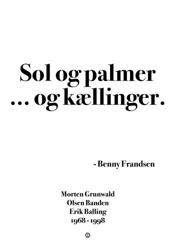 'Olsen-banden' plakat: Sol og palmer ... og kællinger!