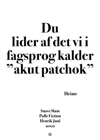 Polle fra snave citat plakat med citatet - akut pat chok