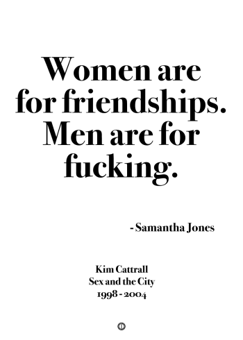 Sex and the city samantha quote poster