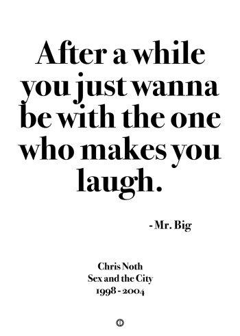 Sex and the city mr big quote poster