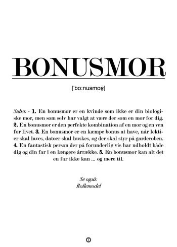 definitions plakat til bonusmor