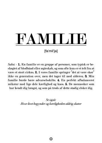 familie defintion - gave til hele familien