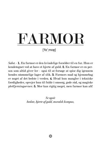 Sød og personlig plakat med definitionen af hvad en farmor er