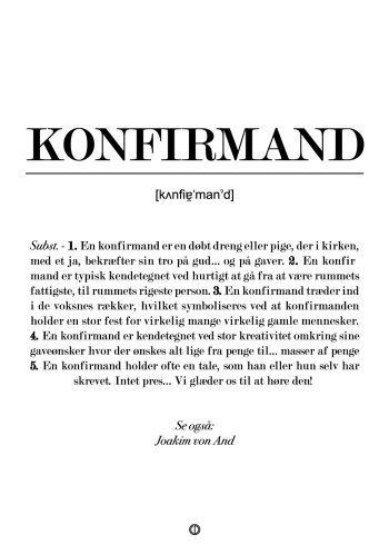 konfirmand definitions plakat