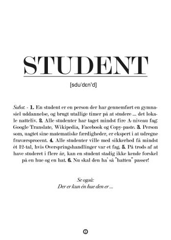 Gave til student sjov plakat med definition af student