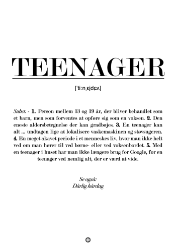 teenager definitions plakat